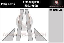 NISSAN  QUEST CHROME PILLAR POSTS FITS  2004-2006  4 PIECE SET