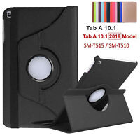 Leather 360 Degree Rotating Smart Stand Case Cover For Galaxy T510-T580 10.1""