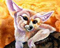 FENNEC FOX 8X10 Print from Artist Sherry Shipley