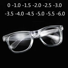 Glasses Minus Transparent White Plastic Finished Nearsighted Myopia Sights