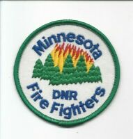 Minnesota Dept Natural Resource Fire Fighters obsolete cloth shoulder patch  NM+