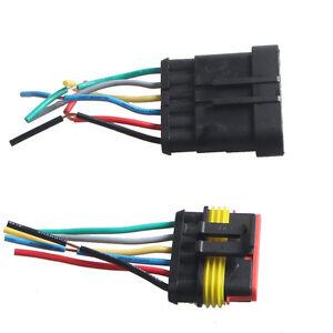 6-Polig Kabel KFZ Steckverbinder Stecker Wasserdicht Schnellverbinder LJQ12