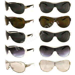 New Mens Khan Driving Biker Sports Shield Designer Sunglasses Retro Black Shades
