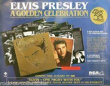 Elvis Presley 1984 Golden Celebration LP Original Promo Poster