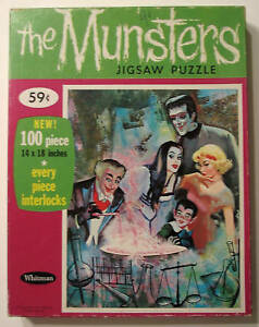 MUNSTERS 100 pc JIGSAW PUZZLE of GRANDPA COOKING 1965