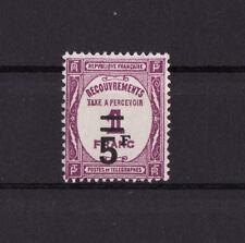 timbre France TAXE   5f   sur 1f   lilas      num: 65   **