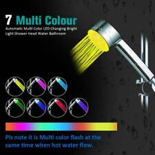 Automatic 5 LED Changing Bright  7 Color Magic Light Shower Head Water Bathroom