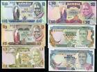 ZAMBIA SET 6 PCS 2 5 10 50 10 20 KWACHA ND 1980-1989 P 24 25 26 28 31 32 UNC