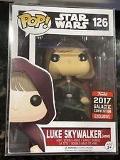 Funko POP Star Wars 126 Luke Skywalker Hooded 2017 Galactic Convention Exclusive