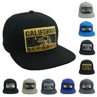 CALIFORNIA REPUBLIC Baseball Cap Flat Bill CALI BEAR Snapback Hip Hop Hiking Hat