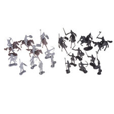 28pcs/set Knights Warrior Horses Medieval Soldiers Figures Mini Model Toys F&F