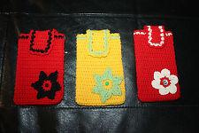 1 Tasche/Beutel handgemacht NEU, Häkelblumen, Handytasche, Taschentuch