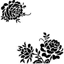 Reutilizables de esquina flor patrón plantilla plantilla para artes y oficios 13x13cm