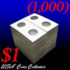 (1000) Small Dollar Size 2x2 Mylar Cardboard Coin Flips for   $1 Paper Holder