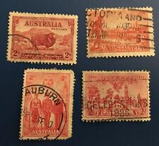 Australia postage stamps. Sc#s 142,147,159, & 185. Used