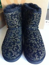 UGG Australia Mini Bailey Bow-Metallic Conifer Boot Big Girls Size 6. New
