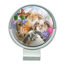 Rabbits Bunnies Hampster Selfie Golf Hat Clip With Magnetic Ball Marker