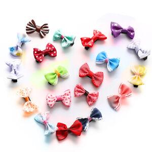 20Pcs Colorful Bow Hairpins Hair Barrette Kid Cute Baby Girl Headwear Hair Clip☜