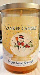 Yankee Candle Sugary Sweet Snowfall 20 oz large tumbler 2-wick jar Ltd Edition