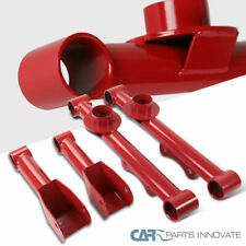 For 79-04 Mustang Red Carbon Steel Rear Upper+Lower Tubular Control Arms Spec-D