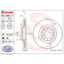 Bremsscheibe COATED DISC LINE - Brembo 09.C306.11