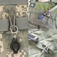 Hiking Water Bottle Holder Hook Belt Clip Aluminum Silicone Carabiner Key Ring0U
