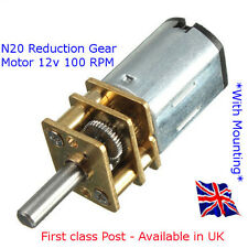 12 V DC N20 Micro speed reduction gear motor with Metal Gearbox 100 tr/min - Avec montage