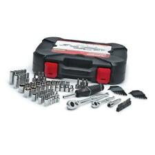 NEW MECHANICS TOOL SET 92-PIECE w/ Case Sockets Ratchets Accessories in Chrome