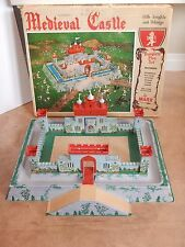 1950s MARX MEDIEVAL CASTLE PLAYSET, WITH VACUFORM BASE & ORIGINAL BOX  #4707