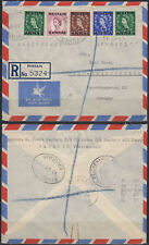 1954 BAHRAIN R-Cover to Germany, multi colour franking QEII [bl0287]
