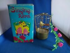 "Vtg.Boxed ""New Life-Like Transistor Singing Bird""-Working,New Batteries,Japan"