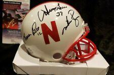 Turner Gill Irving Fryar Mike Rozier Signed Nebraska Mini Helmet JSA Huskers