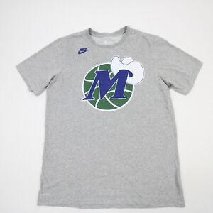 Dallas Mavericks Nike NBA Authentics DriFit Short Sleeve Shirt Men's Gray Used