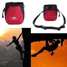 Outdoor Rock Climbing Chalk Bag Waterproof Polyester Magnesium Powder Pouch Red