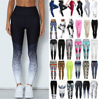 Women Yoga Leggings Fitness Sports Gym Exercise Running Jogging Pants Trouser UK