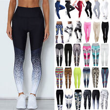 Womens High Waisted Yoga Sports Pants Fitness Running Leggings Trousers Joggings