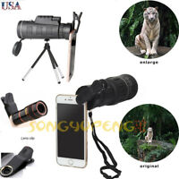 Universal Monocular 40X60 Zoom Optical Lens Telescope With Clip Tripod For Phone
