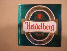 Heidelberg 12 oz Beer label  - Heidelberg Brewing, Carling Saskatchewan Canada
