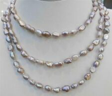 LONG 36'' INCHES 7-9MM PURPLE AKOYA CULTURED PEARL NECKLACE