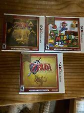 (3) 3DS Games Mario 3D Land The Legend Of Zelda Ocarina Of Time A Line Between