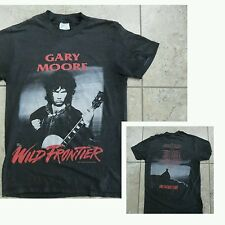 VTG 1987 Gary Moore Tour Rock SHIRT 50/50 Super Thin 2Sided Graphic Black Red M