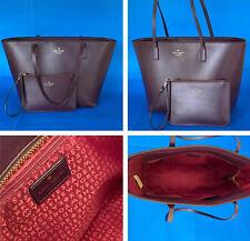 KATE SPADE Plum Purple Tote Bag w Matching Wristlet Wallet