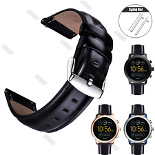 18 20 22mm Leather WristWatch Band Strap For Huawei Watch Quick Release Retro
