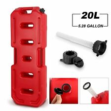 5 Gallon 20l Fuel Pack Gas Can Spare Fuel Container With Spout Red Off Road Atv
