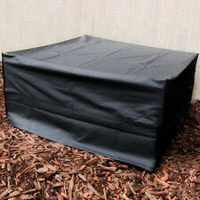 """New listing Sunnydaze Fire Pit Cover Square Durable Weather-Resistant Waterproof- Black- 48"""""""