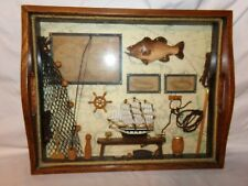 1970's Tray Type Decorative Man Cave Fishing Shadow Box