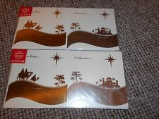2 Packs Christmas Cards 12/Pack, Tesco, White & Gold, Silver & Gold
