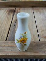 Vintage Miniature Vase Handpainted Sunflower Dollhouse Accessories