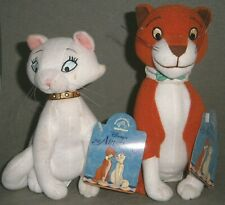 VINTAGE! APPLAUSE, ARISTOCATS Cat THOMAS O'MALLEY & DUCHESS Plush Set ~ 1990s