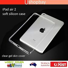 iPad Air 2 Clear Gel Skin Soft TPU Silicone Cover Protective Back Case